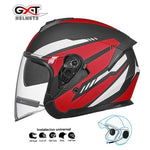Load image into Gallery viewer, Bluetooth Motorcycle Helmet headset Bikewest.com Matte Red BT M