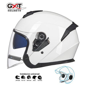 Bluetooth Motorcycle Helmet headset Bikewest.com White BT L