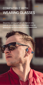 Load image into Gallery viewer, Bluetooth Wireless Headphones Bone Conduction Bikewest.com