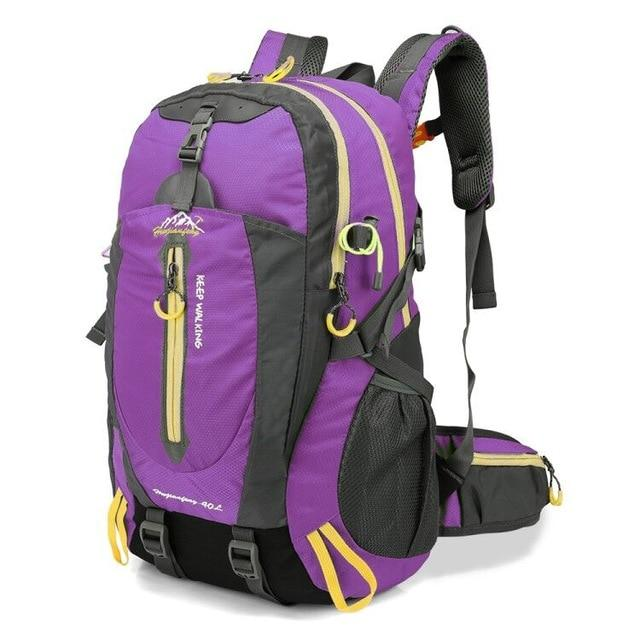 Climbing Backpack Rucksack 40L Outdoor Sports Bag Travel Backpack Camping Bikewest.com Purple 40L 30 - 40L Russian Federation