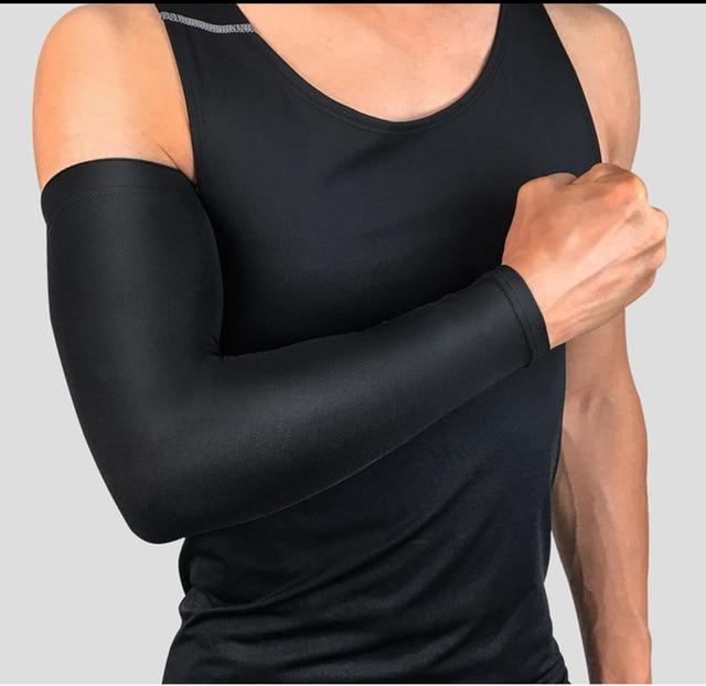 Compression Sports Arm Sleeve Basketball Cycling Arm Bikewest.com Black M