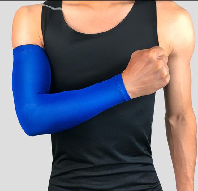 Compression Sports Arm Sleeve Basketball Cycling Arm Bikewest.com Blue M