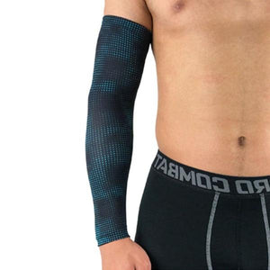 Compression Sports Arm Sleeve Basketball Cycling Arm Bikewest.com Dot Blue M