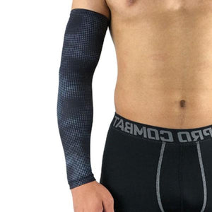 Compression Sports Arm Sleeve Basketball Cycling Arm Bikewest.com Dot Grey M