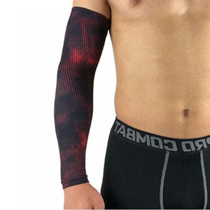 Compression Sports Arm Sleeve Basketball Cycling Arm Bikewest.com Dot Red M