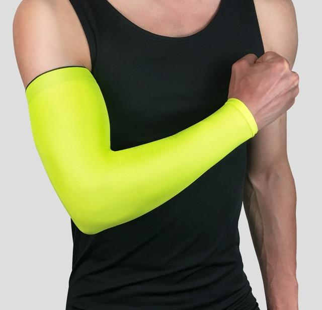 Compression Sports Arm Sleeve Basketball Cycling Arm Bikewest.com Green M