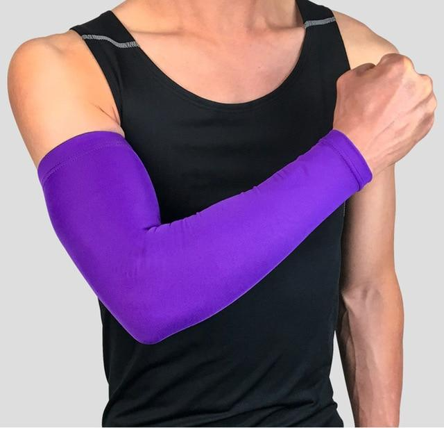 Compression Sports Arm Sleeve Basketball Cycling Arm Bikewest.com Purple M