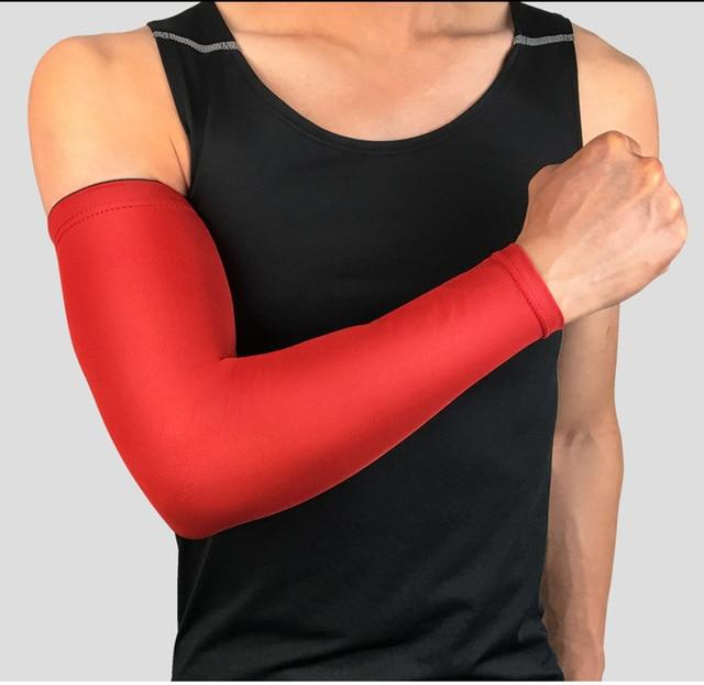Compression Sports Arm Sleeve Basketball Cycling Arm Bikewest.com Red M