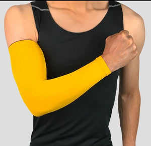 Compression Sports Arm Sleeve Basketball Cycling Arm Bikewest.com Yellow M