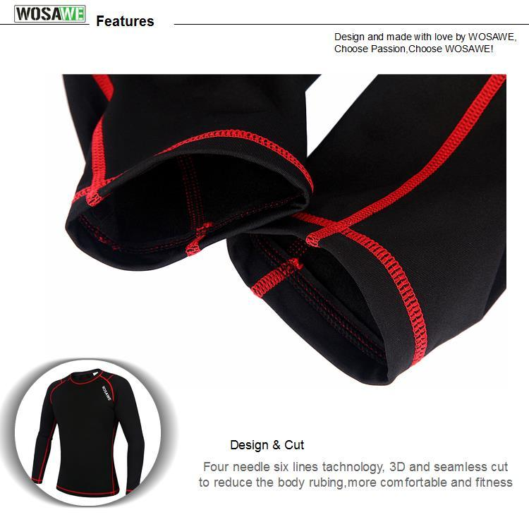 Cycling Base Layers Bodybuilding Fitness Long Sleeve Tight Bikewest.com