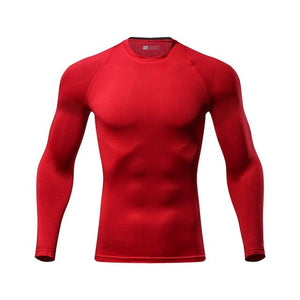 Cycling Base Layers Long Sleeves Compression Bikewest.com Red L
