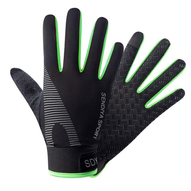 Cycling Breathable Non-Slip Touch Screen Gloves Bikewest.com Green M China