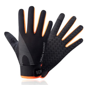Cycling Breathable Non-Slip Touch Screen Gloves Bikewest.com Orange XL China