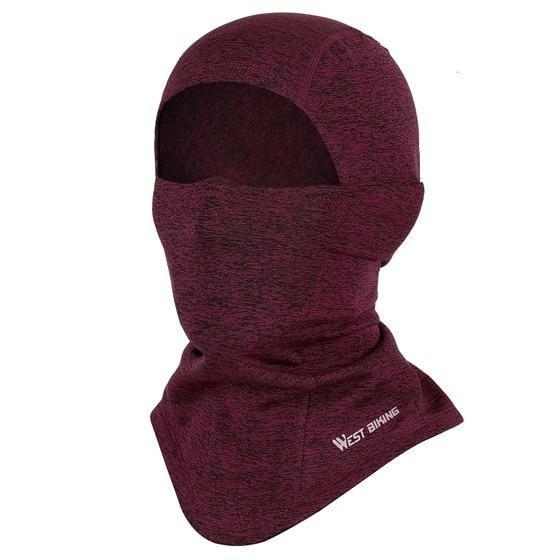 Cycling Cap Breathable Sun Protection Balaclava Mask Bikewest.com Face Mask Red