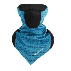 Cycling Cap Breathable Sun Protection Balaclava Mask Bikewest.com Triange Vent Blue