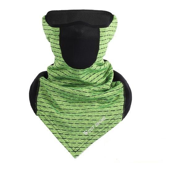 Cycling Cap Breathable Sun Protection Balaclava Mask Bikewest.com Triange Vent Green