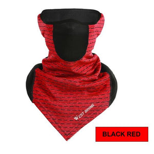 Cycling Cap Breathable Sun Protection Balaclava Mask Bikewest.com Triange Vent Red