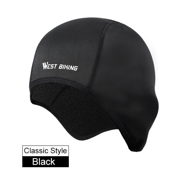 Cycling Caps Winter Warm Fleece Hats Bikewest.com Classic Black China
