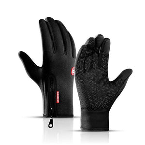 Cycling Gloves Bicycle Warm Touchscreen Full Finger Gloves Bikewest.com Black XL