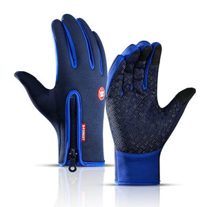 Cycling Gloves Bicycle Warm Touchscreen Full Finger Gloves Bikewest.com Dark Blue S