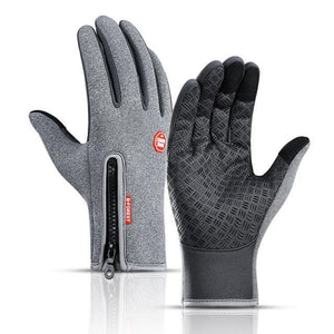 Cycling Gloves Bicycle Warm Touchscreen Full Finger Gloves Bikewest.com Gray S