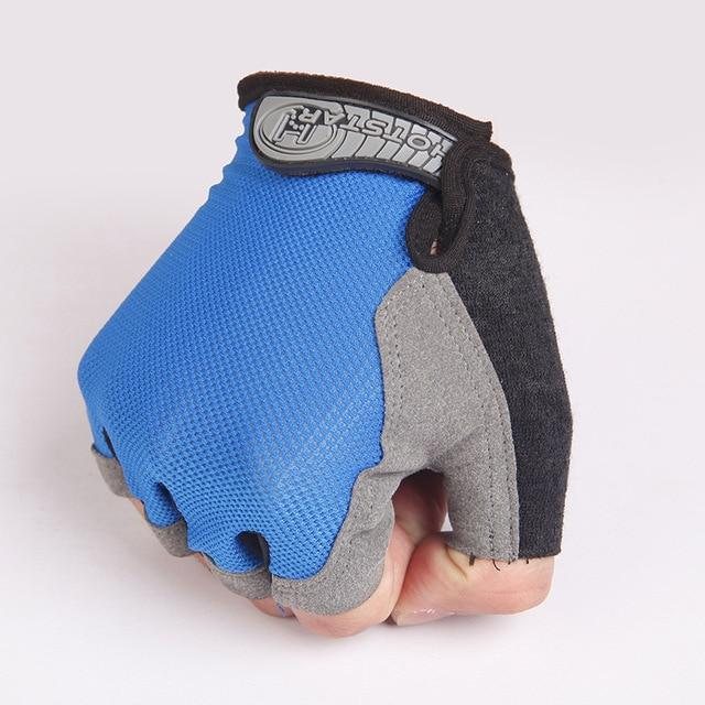 Cycling Half-Finger Gloves Anti Slip Outdoor Bikewest.com Blue XL
