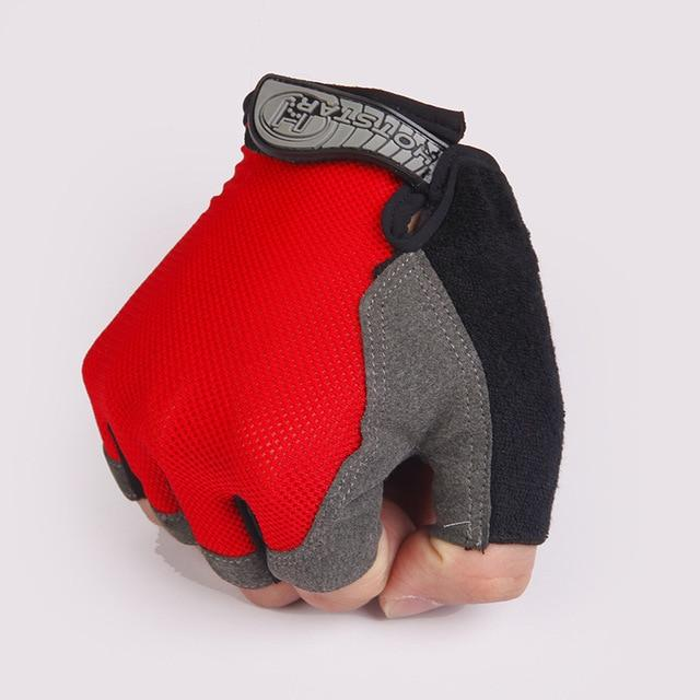 Cycling Half-Finger Gloves Anti Slip Outdoor Bikewest.com Red XL