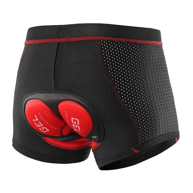 Cycling Underwear 5D Gel Padded Cycling Shorts Bikewest.com 001C red Silicone S