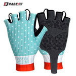 Load image into Gallery viewer, Darevie Cycling Gloves Pro Light Soft Breathable Cool Dry Half Finger Cycling Bikewest.com Aqua blue S
