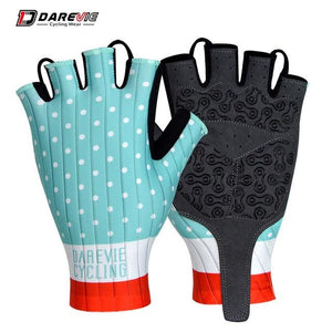 Darevie Cycling Gloves Pro Light Soft Breathable Cool Dry Half Finger Cycling Bikewest.com Aqua blue S