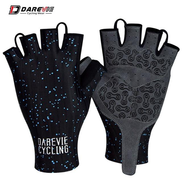 Darevie Cycling Gloves Pro Light Soft Breathable Cool Dry Half Finger Cycling Bikewest.com Black S