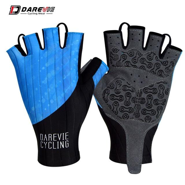 Darevie Cycling Gloves Pro Light Soft Breathable Cool Dry Half Finger Cycling Bikewest.com Blue S