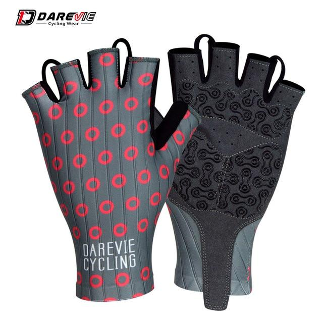 Darevie Cycling Gloves Pro Light Soft Breathable Cool Dry Half Finger Cycling Bikewest.com Red grey S