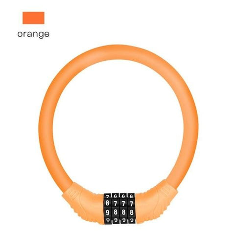 Digit Bicycle Chain Lock Bikewest.com Orange Russian Federation