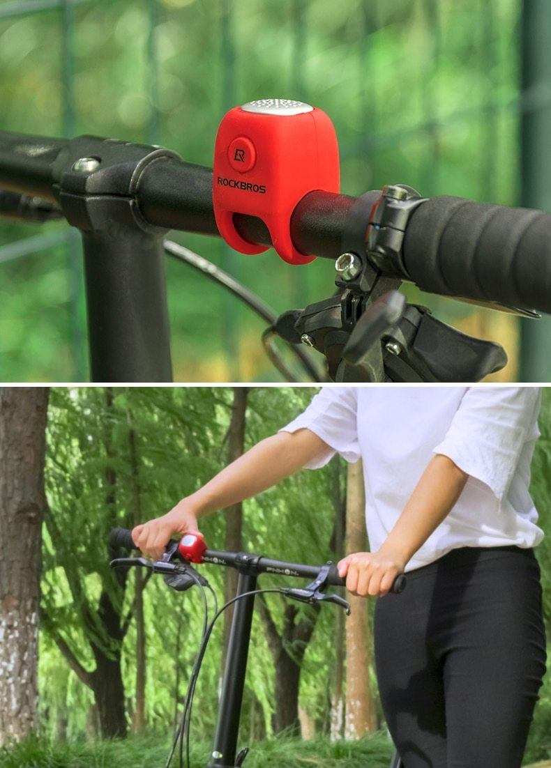 Electric Cycling Bell 110 dB Horn Rainproof MTB Bicycle Handlebar Silica Gel Shell Ring Bike Bell Bicycle Accessories Bikewest.com