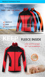 Load image into Gallery viewer, Fleece Thermal Cycling Jacket Bikewest.com