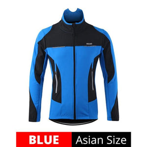 Fleece Thermal Cycling Jacket Bikewest.com Blue M