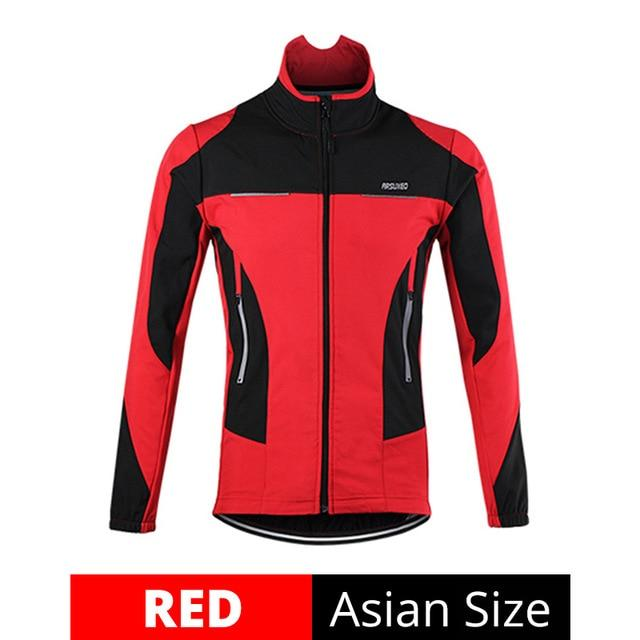 Fleece Thermal Cycling Jacket Bikewest.com Red M