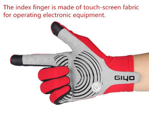GIYO Touch Screen Long Full Fingers Gel Sports Cycling Gloves Bikewest.com