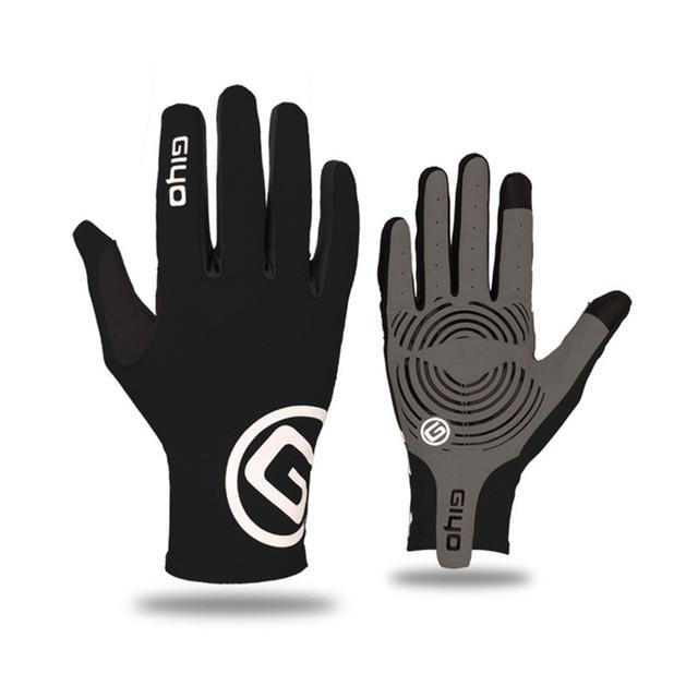 GIYO Touch Screen Long Full Fingers Gel Sports Cycling Gloves Bikewest.com Black XXL