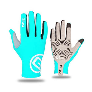GIYO Touch Screen Long Full Fingers Gel Sports Cycling Gloves Bikewest.com Blue XL