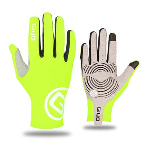 GIYO Touch Screen Long Full Fingers Gel Sports Cycling Gloves Bikewest.com Green XXL