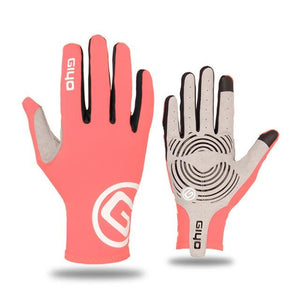 GIYO Touch Screen Long Full Fingers Gel Sports Cycling Gloves Bikewest.com Pink XXL
