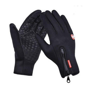 Gloves Anti Slip Windproof Thermal Warm Touchscreen Bikewest.com Black XL