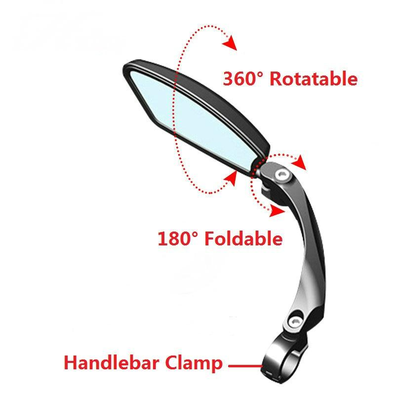 Hafny Bicycle Rearview Mirrors 360° Rotatable Bikewest.com