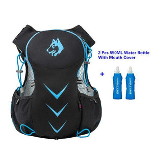 Jungle King 5L Marathon Hydration Vest Pack for 1.5L Water Bag Bikewest.com Blue 550ML Bottle