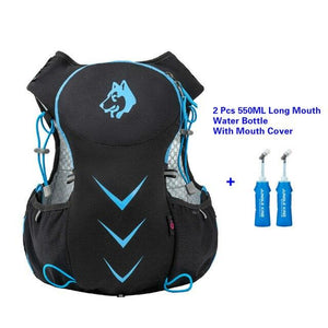 Jungle King 5L Marathon Hydration Vest Pack for 1.5L Water Bag Bikewest.com Blue550ML LongBottle
