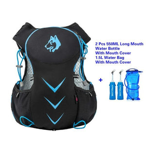 Jungle King 5L Marathon Hydration Vest Pack for 1.5L Water Bag Bikewest.com BlueWaterBagLongMout