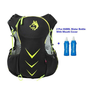 Jungle King 5L Marathon Hydration Vest Pack for 1.5L Water Bag Bikewest.com Green 550ML Bottle