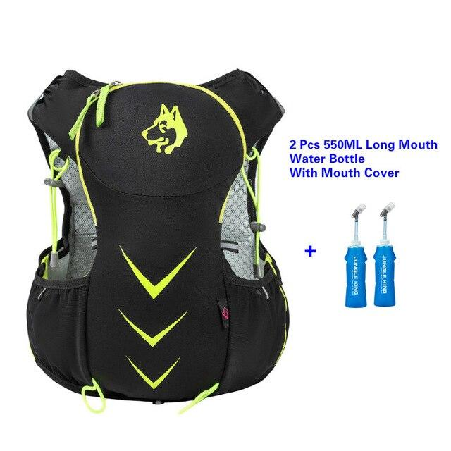 Jungle King 5L Marathon Hydration Vest Pack for 1.5L Water Bag Bikewest.com Green550ML LongBottl
